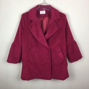 Snidel plum wool blend coat jacket